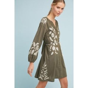 Anthropologie Dresses - Anthropologie Embroidered Peasant Dress
